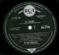 ELVIS PRESLEY G.I. Blues Vinyl Record LP RCA 1960
